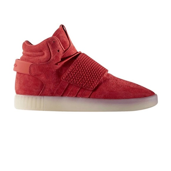 adidas Other - adidas Tubular Invader Red Sneakers Mens Size 12